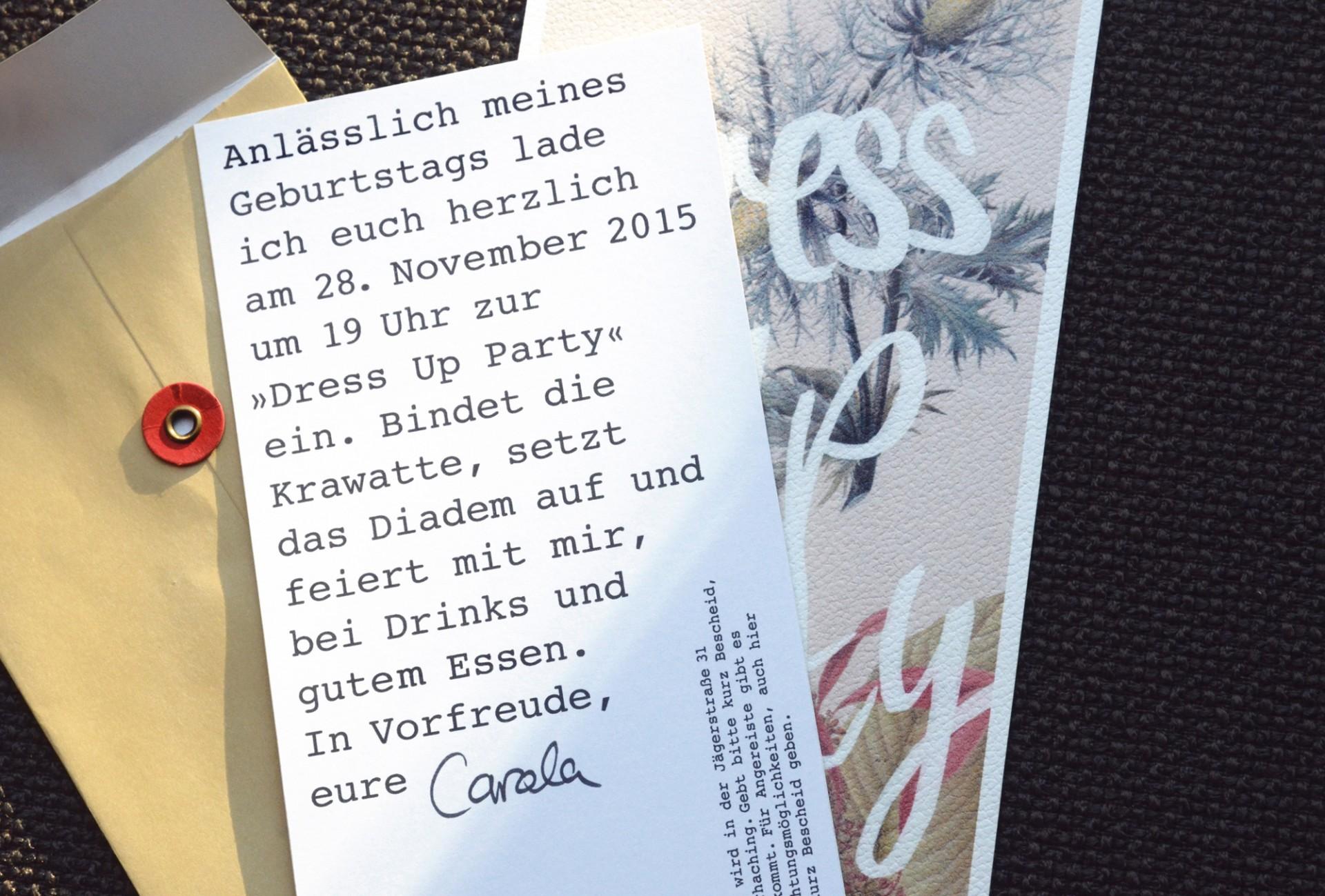 carolacless.de Einladungskarte