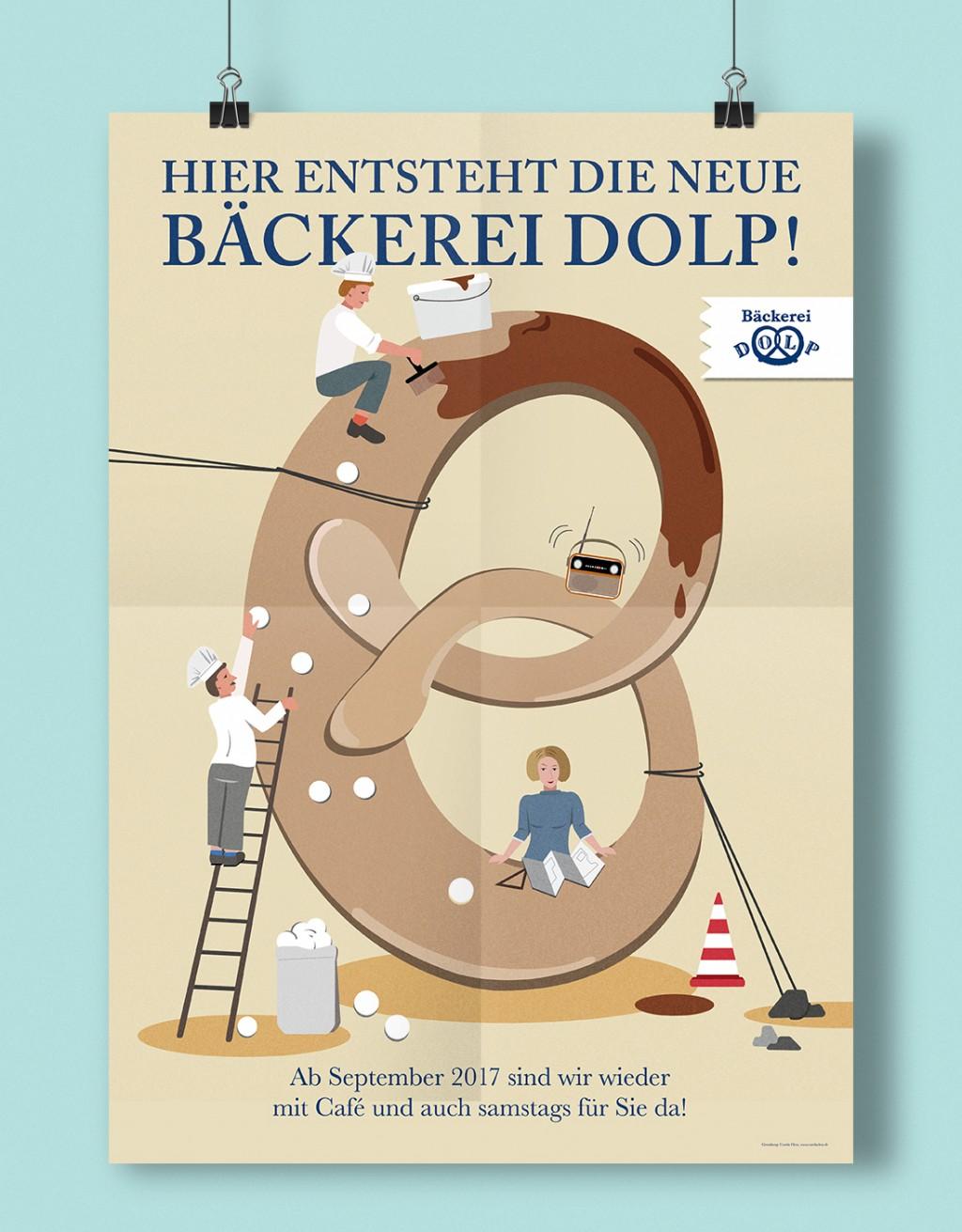 carolacless.de Grafikdesign für die Bäckerei Dolp